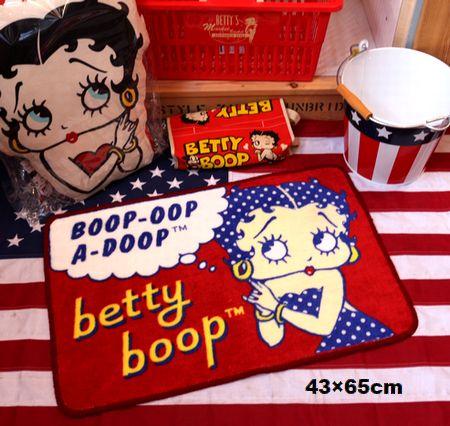 ベティ マット ベティブープ フロアマット 玄関マット バスマット アメキャラ ベティちゃん アメリカ雑貨屋 サンブリッヂ 通販