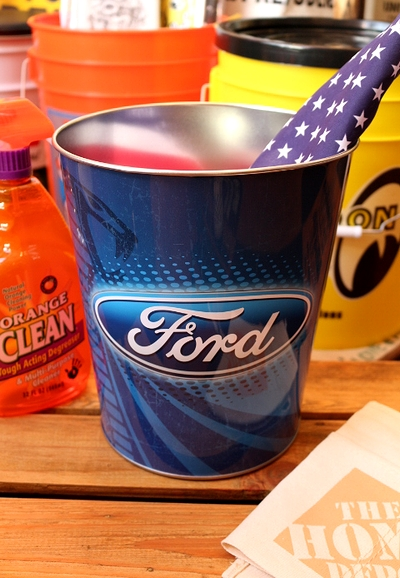 フォードゴミ箱デッドストック フォードブリキバケツ FORD アメリカ雑貨屋 サンブリッヂ