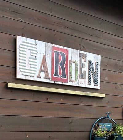 ガーデン看板 庭看板 ベランダ看板 アメリカン看板 木製看板 雑貨屋 サンブリッヂ