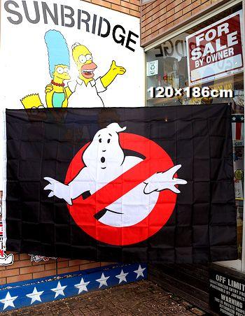 ゴーストバスターズフラッグ ゴーストバスターズ旗 タペストリー のれん アメリカ映画 アメリカ雑貨 星条旗雑貨通販 サンブリッヂ