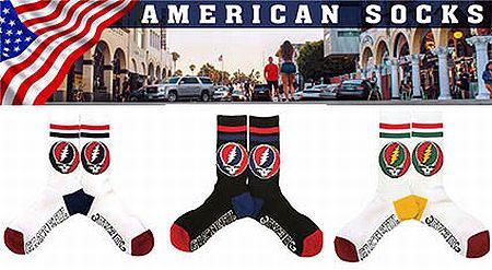 グレフル 靴下 25~28cm グレイトフルデッド USA ソックス アメリカ雑貨 アメリカ雑貨屋 通販 サンブリッヂ 通販商品