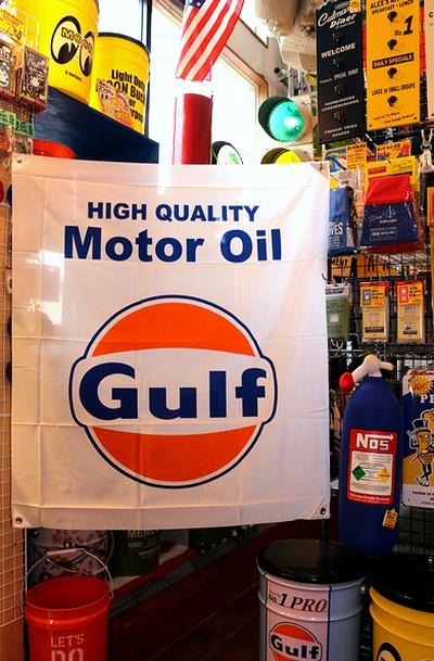ガルフフラッグ ガルフタペストリー Gulfフラッグ ガレージ旗 アメリカン雑貨通販 SUNBRIDGE