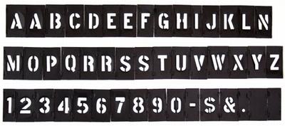 プラスチックステンシルプレート Hanson社製ステンシル プラステンシル アメリカ雑貨屋 サンブリッヂ 通販