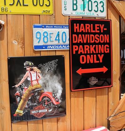 ハーレー専用駐車場看板 ハーレーバイク看板 アメリカ雑貨屋 サンブリッヂ