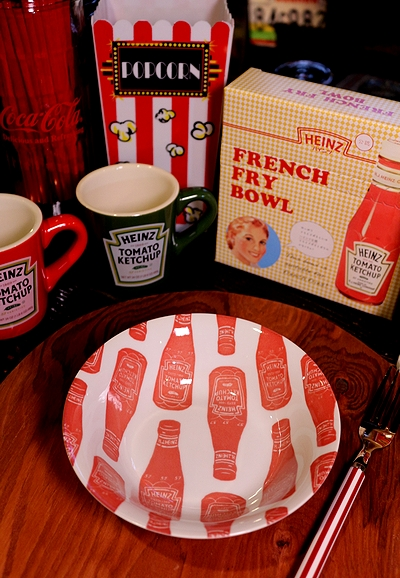 ハインツ皿 ハインツフレンチフライプレート  HEINZ皿 ハインツ食器 アメリカ雑貨屋 SUNBRIDGE サンブリッヂ アメリカン雑貨 通販