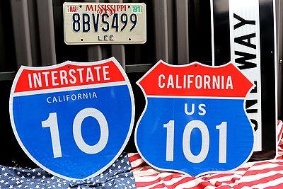 ハイウェイ看板 カリフォルニア看板 カリフォルニア10 アメリカ雑貨通販 サンブリッヂ 道路標識