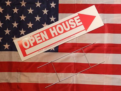 アメリカンヤードサイン プラスチック看板 MADE IN USA 地面に刺す看板 FOR RENT GARAGE SALE アメリカ雑貨屋 サンブリッヂ