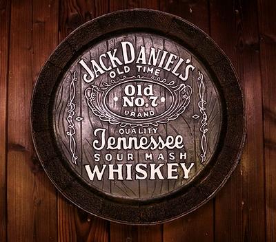 ジャックダニエル看板 ジャックダニエル樽看板 ウイスキー看板 アメリカ雑貨通販 SUNBRIDGE サンブリッヂ