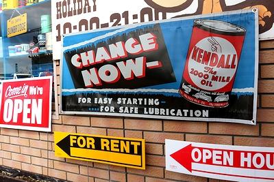 ケンドルバナー ケンドルオイルバナー ケンドル看板 KENDALLバナー アメリカ雑貨屋サンブリッヂ SUNBRIDGE 岩手雑貨