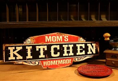 キッチン看板 キッチンブリキ看板 クルールアイアンボード