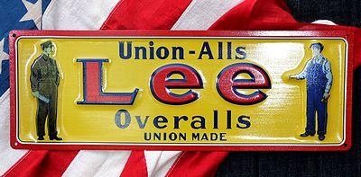 Lee看板 Leeエンボスサイン リー看板 デニム看板 リーバイス アメリカ看板通販 サンブリッヂ