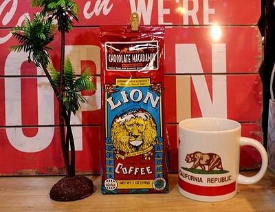 ライオンコーヒーチョコレートマカダミア 中挽きコーヒー ハワイコーヒー アメリカ雑貨屋 サンブリッヂ 通販