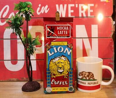 ライオンコーヒーモカラテ 中挽きコーヒー ハワイコーヒー アメリカ雑貨屋 サンブリッヂ 通販