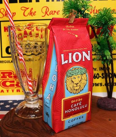 ライオンコーヒー カフェホノルル ノーフレーバーコーヒー ハワイ LION COFFEE アメリカ雑貨屋 SUNBRIDGE アメリカン雑貨 通販