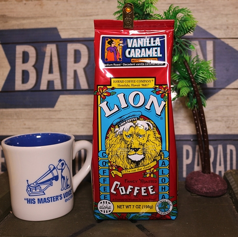 ライオンコーヒー バニラキャラメル フレーバーコーヒー ハワイ LION COFFEE アメリカ雑貨屋 SUNBRIDGE アメリカン雑貨 通販