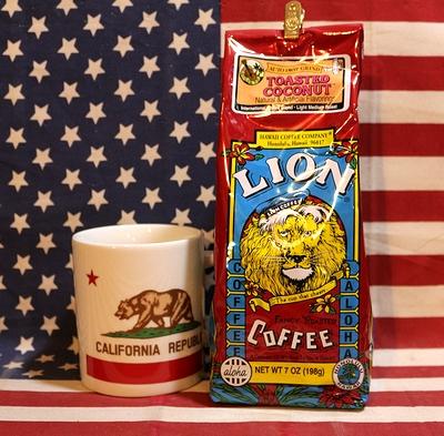 ライオンコーヒーココナッツ LIONCOFFEE フレーバーコーヒー アメリカ雑貨屋 サンブリッヂ