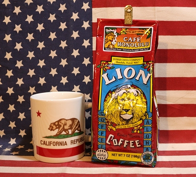 ライオンコーヒーカフェホノルル LIONCOFFEE ノーフレーバー アメリカ雑貨屋 サンブリッヂ