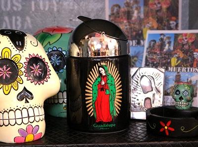ドーム灰皿 レトロドームアシュトレイ グアダルーペ マリア メキシカン 聖母 アメリカ雑貨屋 SUNBRIDGE アメリカン雑貨通販