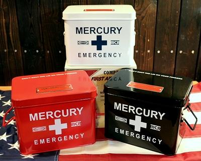 マーキュリー救急箱 マーキュリーエマージェンシーボックス アメリカ雑貨屋 サンブリッヂ