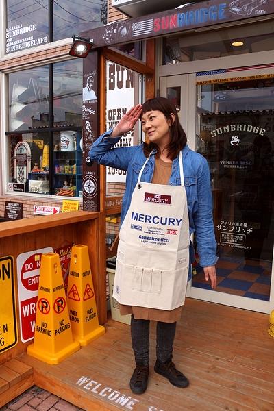マーキュリーエプロン ショートエプロンワーク MERCURY アメリカ雑貨屋 サンブリッヂ
