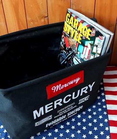 マーキュリー レクタングルボックス黒 キャンバス生地ボックス アメリカ雑貨屋 サンブリッヂ 雑貨通販 SUNBRIDGE