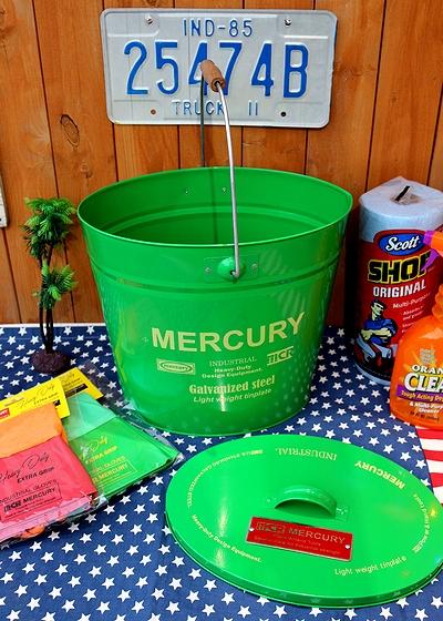 オーバルバケツ緑 マーキュリーフタ付きバケツ マーキュリーバケツ MERCURY アメリカ雑貨屋 サンブリッヂ 雑貨 SUNBRIDGE
