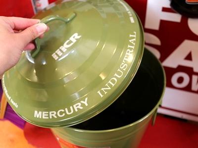 マーキュリーゴミ箱 ラウンドダストピン フタ付きゴミ箱 MERCURY アメリカ雑貨屋 サンブリッヂ 通販