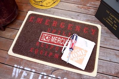 マーキュリーガレージマット マーキュリー玄関マット MERCURYマット アメリカ雑貨屋通販 サンブリッヂ