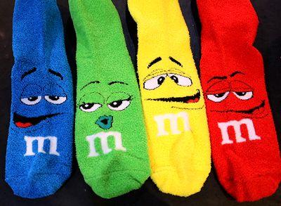 エム&エムズ靴下 エム&エムズソックス M&M'sモコモコ靴下 アメリカ雑貨屋 サンブリッヂ