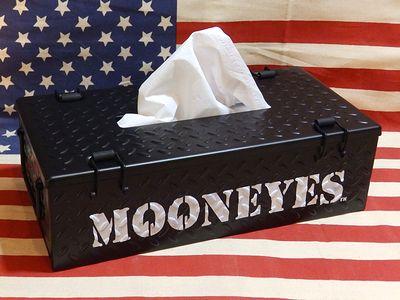 ムーンアイズ チェッカープレートティッシュケース スチール製 MOON EYES ガレージ アメリカ雑貨屋 アメリカ雑貨 SUNBRIDGE