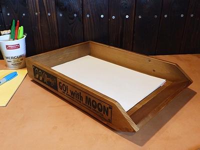ムーンアイズウッデンペーパートレイ スタッキングトレイ 木製トレイ MOONEYES アメリカ雑貨屋 サンブリッジ