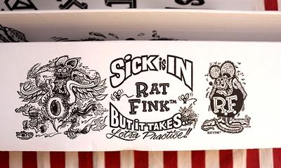 ラットフィンクサンシェード RATFINK MOONEYES 車サンシェード アメリカ雑貨屋 サンブリッヂ