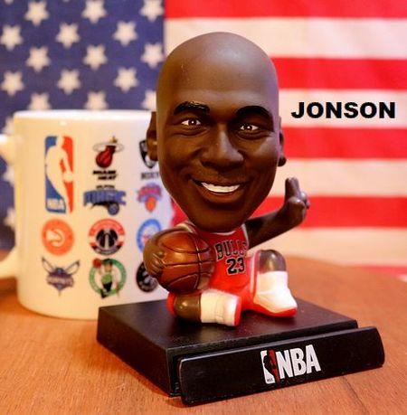 NBA スマホスタンド 首振りドール マイケルジャクソン  アメリカ雑貨通販 サンブリッヂ