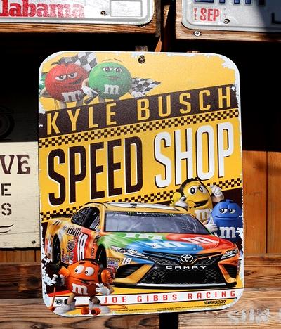 ナスカー看板 NASCAR看板 エム&エムズナスカー ガレージ看板通販 アメリカ雑貨屋 サンブリッヂ通販