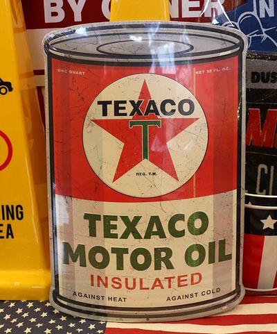 テキサコ看板 エンボス看板 オイル缶 ブリキ看板 アメリカン看板 TEXACO アメリカ雑貨通販 サンブリッヂ 通販商品