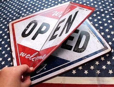 オープン看板 クローズ看板 店舗 営業看板 アメリカン看板 アメリカン雑貨 通販 アメリカ雑貨屋 サンブリッヂ