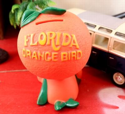 オレンジバードコインバンク アメキャラ貯金箱 FLORIDA ORANGE BIRD アメリカ雑貨屋 サンブリッヂ