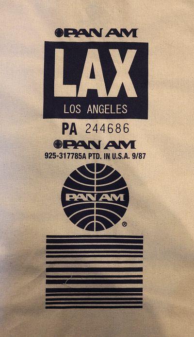 パンナム巾着ショルダーバッグ 巾着 PANAM ロサンゼルス ホノルル アメリカ雑貨屋通販 サンブリッヂ
