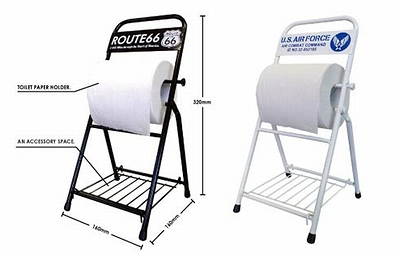 トイレットペーパーホルダー 組み立て式ペーパーホルダー U.S AIRFORCE ROUTE66 アメリカ雑貨屋 サンブリッヂ トイレ雑貨 通販