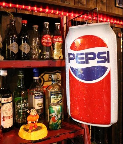 PEPSI ペプシ缶看板 ブリキ看板 ダイカットサイン アメリカ雑貨屋 サンブリッヂ 通販