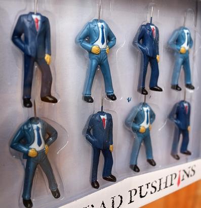 サラリーマン画鋲 サラリーマンピン ヘッドプッシュピン アメリカ雑貨屋 サンブリッヂ おもしろ画鋲