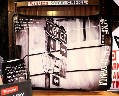 カリフォルニアストリートサインブランケット カリフォルニアブランケット アメリカンブランケットアメリカ雑貨屋 サンブリッヂ