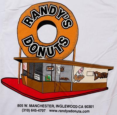 ランディドーナッツTシャツ LAドーナッツ RANDY'SDONUTSTシャツ 映画アイアンマン アメリカ雑貨屋 サンブリッヂ 通販