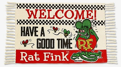 ラットフィンクラグマット ラットフィンクマット ラットフィンクフロアマット アメリカ雑貨屋 MOONEYES アメリカン雑貨 通販