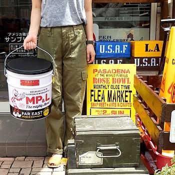 レディキロブリキバケツ レディキロオイル缶スツール ブリキバケツ 座れる缶 アメリカ雑貨屋 サンブリッヂ