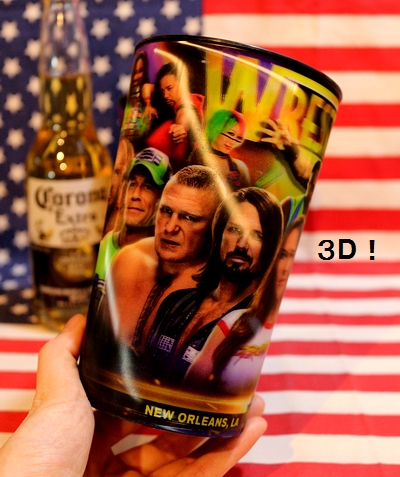 WWEグッズ WWEカップ レッスルマニアグッズ 中邑真輔 ASUKA アメリカ雑貨屋 サンブリッヂ WWE通販