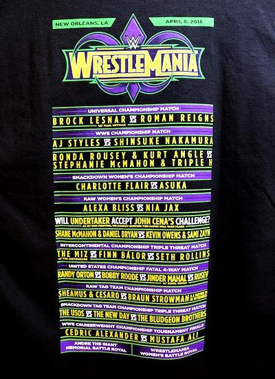 WWETシャツ レッスルマニアTシャツ レッスルマニア WWEニューオリンズ大会 輸入雑貨 アメリカ雑貨屋 サンブリッヂ 通販