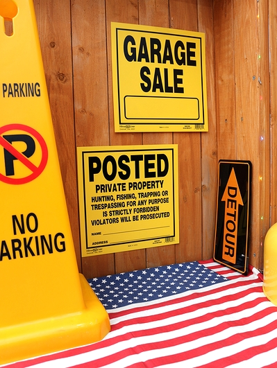ガレージセール看板 HillmanSign アメリカ注意看板 アメリカ雑貨屋 サンブリッヂ