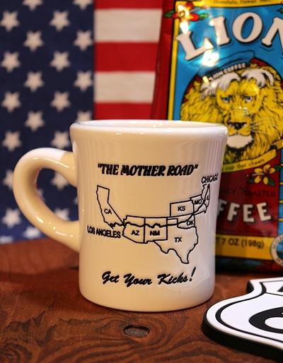 ルート66マグカップ ROUTE66マグカップ アメリカンマグカップ 66ロードマップ アメリカ雑貨屋 サンブリッヂ 通販