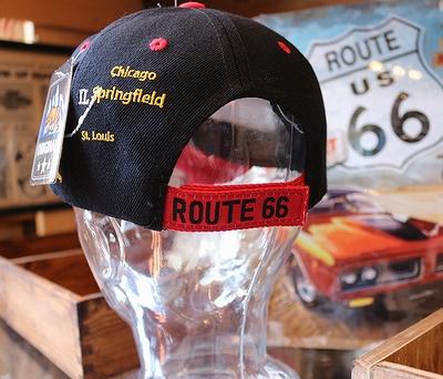 ルート66キャップ アメリカン帽子 バイカーキャップ ROUTE66雑貨 アメリカ雑貨屋 サンブリッヂ ルート66通販